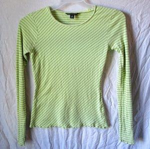 Banana republic green striped shirt